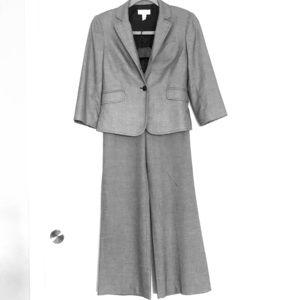 Ann Taylor gray/silver suit